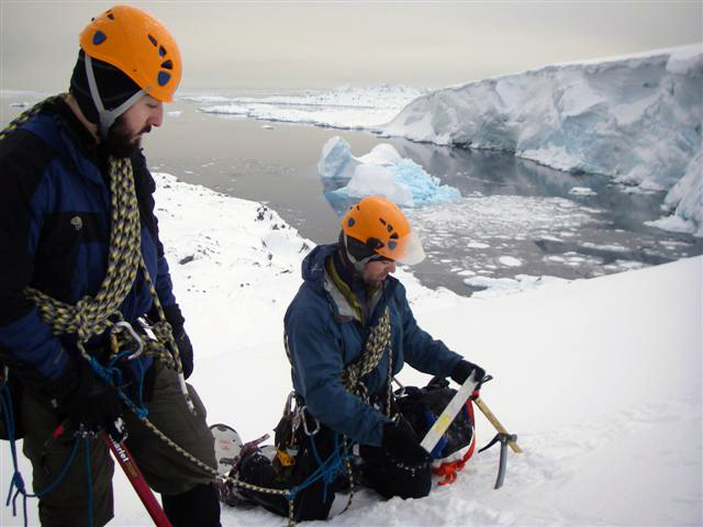 Palmer Glacier Search and Rescue team in action.