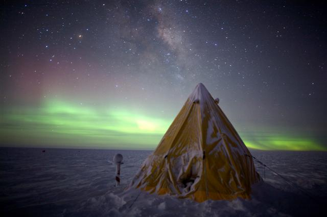 Scott tent set up at South Pole.