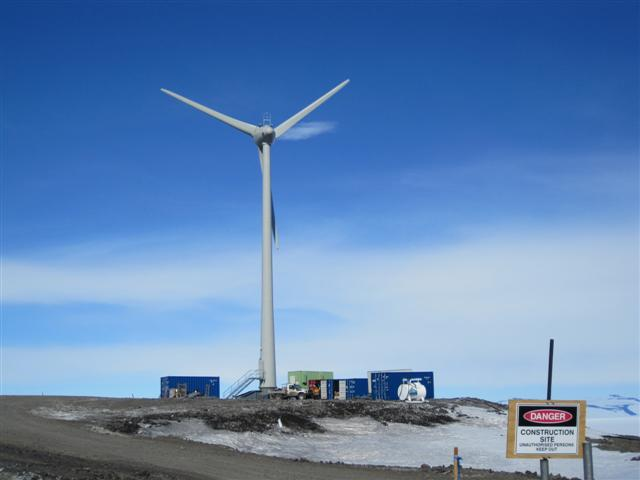 Wind turbine in Antarctica.