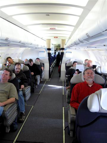 Ice passengers on Australian Airbus