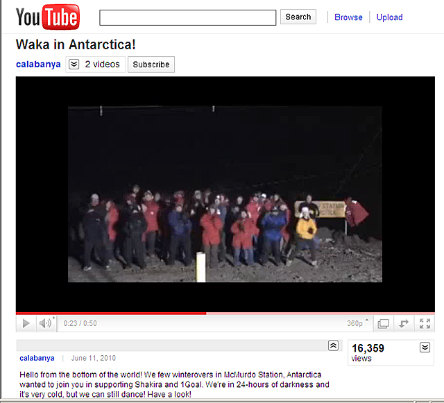 Screenshot of YouTube video.