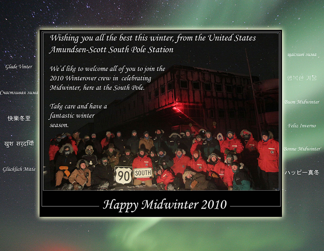 South Pole Midwinter Greeting