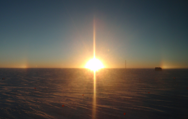 2010 South Pole Sunset