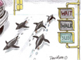 Matt Davidson turns a humorous eye on Antarctic culture in his pen and ink comics.