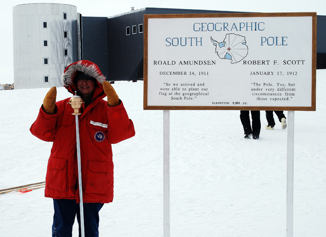 Ella Derbyshire at South Pole