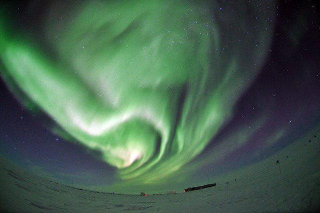 Aurora at the South Pole.