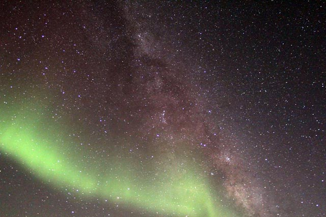 Milky Way sky at the South Pole.