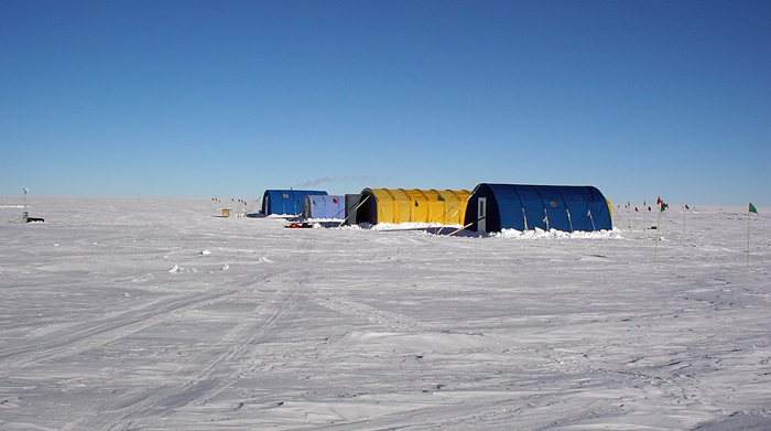 AGAP South camp on the polar plateau.