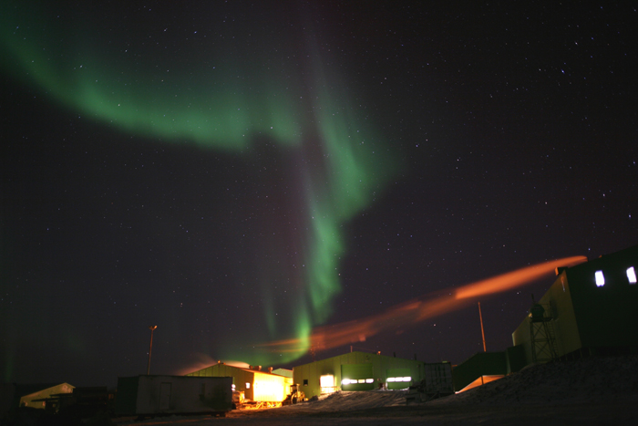 Aurora over Scott Base