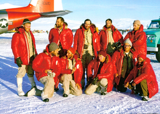 The original Mount Vinson team poses for a photo.