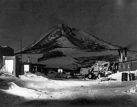 McMurdo Station in winter during 1956.