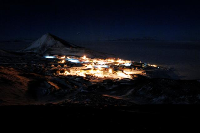 McMurdo Station during the 2009 winter.