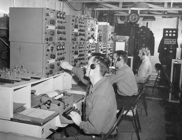 Navy radio operators in 1956.