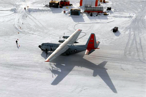 LC-130 at South Pole airfield.