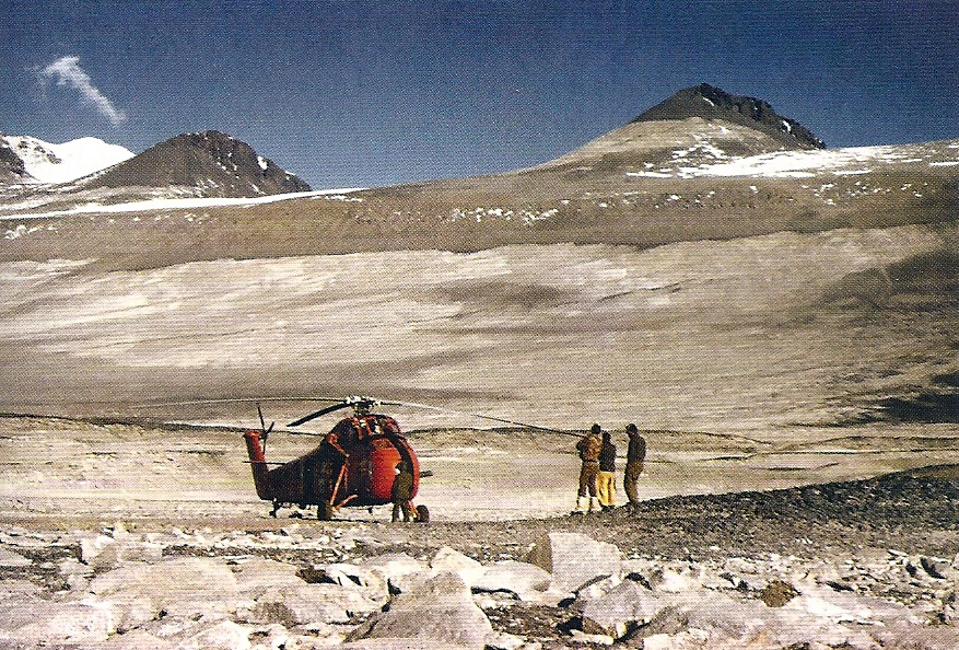 Helicopter in the Dry Valleys.