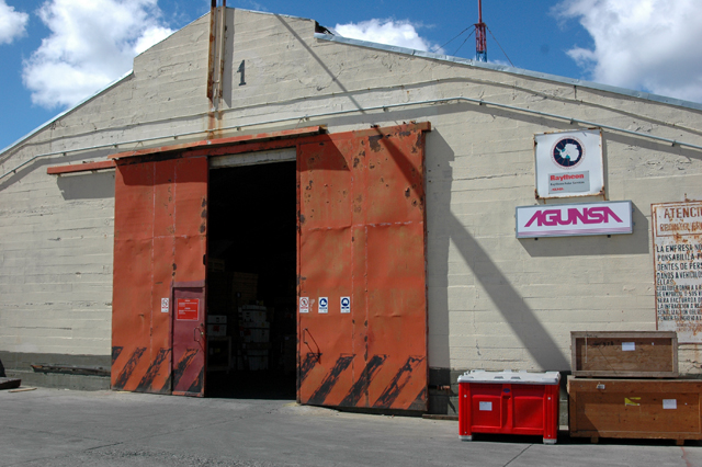 AGUNSA warehouse in Punta Arenas.