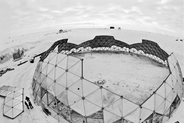 The South Pole Dome on Jan. 7, 2010.