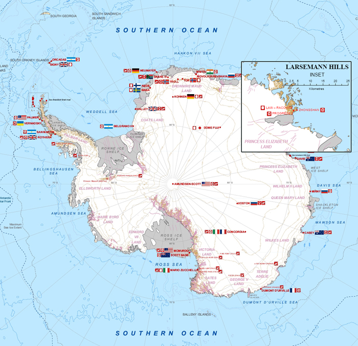 ancient maps of antarctica. Antarctic Map