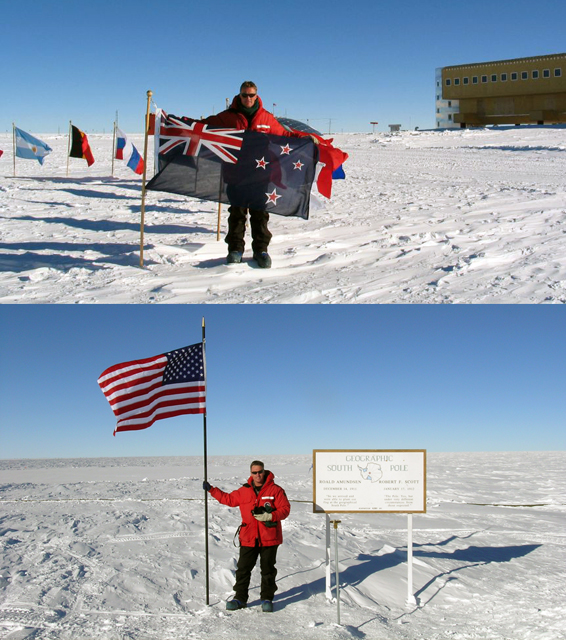 Kerry Chuck at the South Pole.