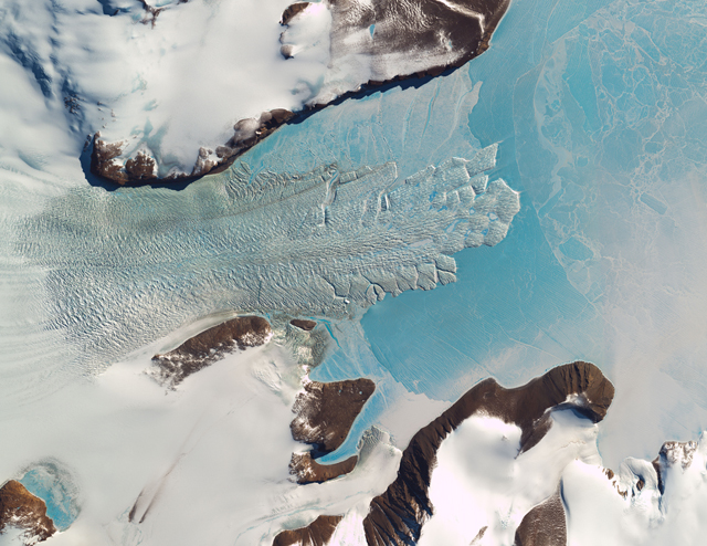 Satellite image of ice tongue.