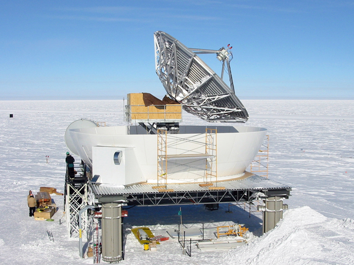 South Pole Communications Dish