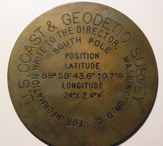 Sister copy of the 1959 geographic marker.
