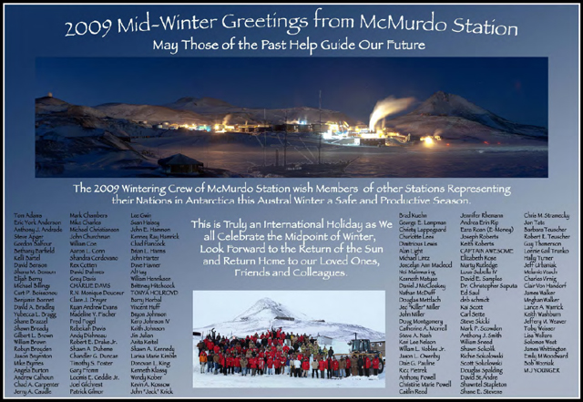 McMurdo Station Midwinter Greeting