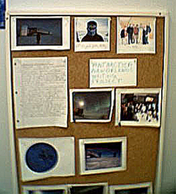 Bulletin Board with Antarctic Letters and Pictures