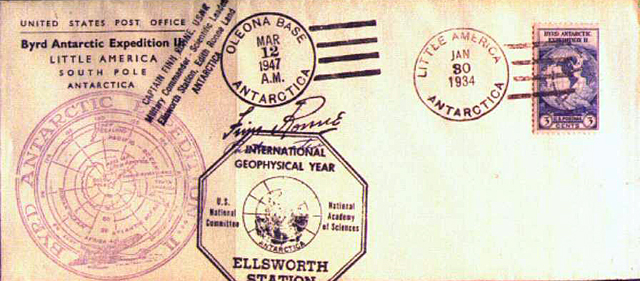 Cover of envelope.