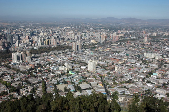 The city of Santiago.