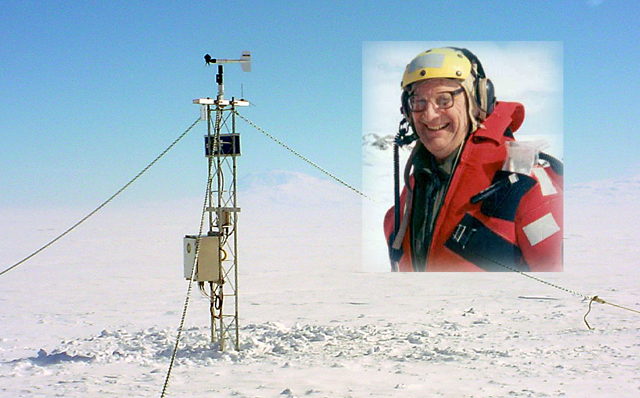 Charles Stearns and a UW-Madison weather station.