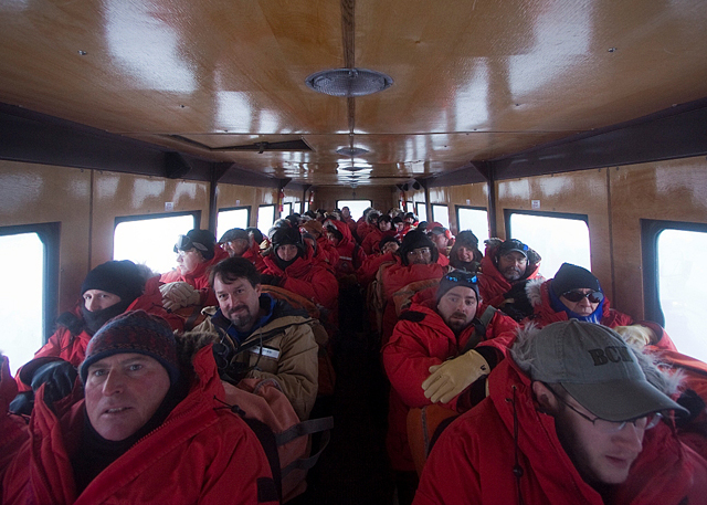 Passengers in Ivan the Terra Bus.
