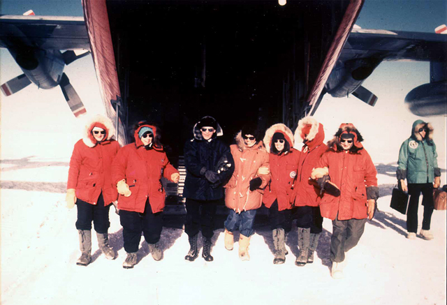 Read Adm. Welch and six women arrive at South Pole