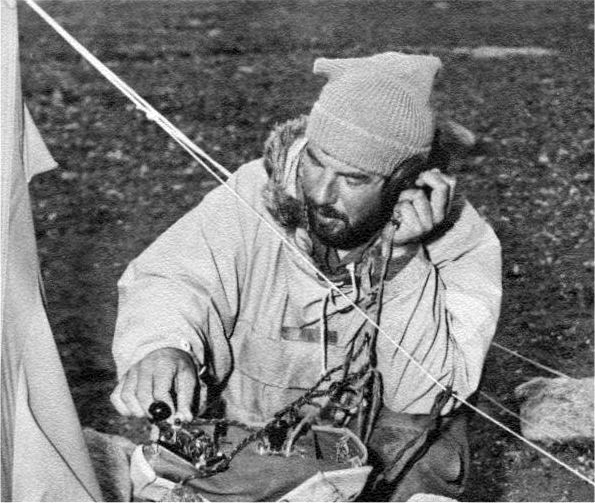 Colin Bull during the 1958-59 expedition.