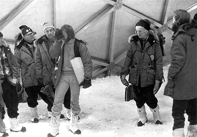 Ruth Siple attends South Pole Dome dedication.