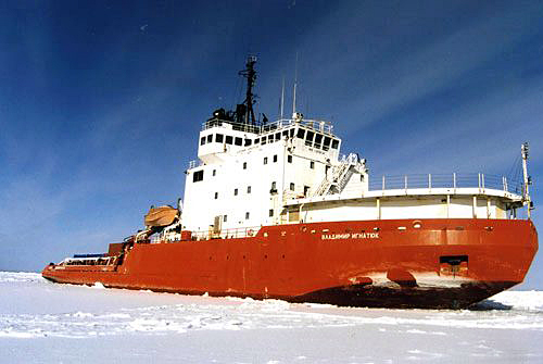 Ship in sea ice.