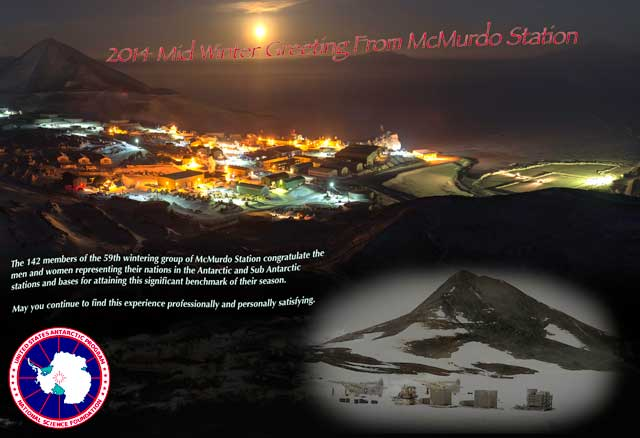 Message from McMurdo Station.