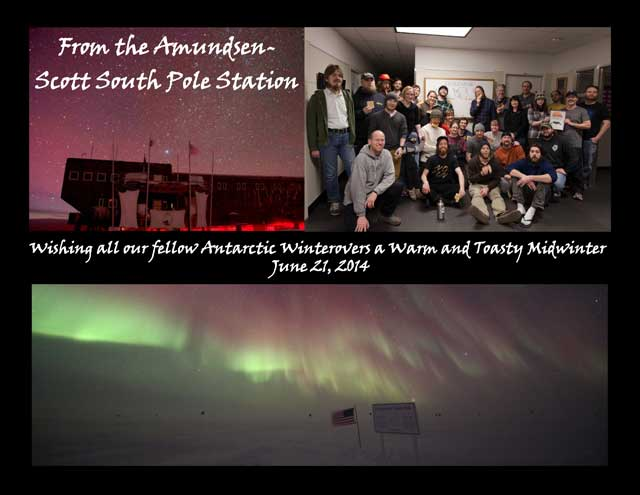 Message from South Pole.