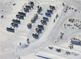 An aerial view of Summer Camp at the South Pole Station in February 2011, about a year before its use was discontinued.