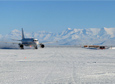 Two aircraft carrying more than 160 people landed on a runway made of ice on the Ross Ice Shelf on Tuesday, September 30, 2014