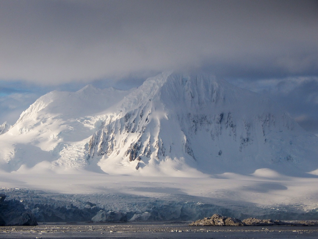 Glaciated mountains along the Antarctic Peninsula