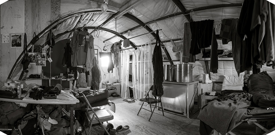 O'Boyle draws out the personality of utilitarian remote sites like the field camp at New Harbor