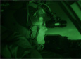 A U.S. Air Force C-17 pilot uses night-vision goggles to land at Pegasus Airfield near McMurdo Station in 2008.