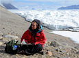 Artist Lily Simonson sketches in the McMurdo Dry Valleys in Antarctica.