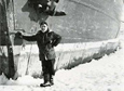 Capt. Pieter Lenie views ice conditions after the research vessel HERO met impenetrable ice on Dec. 3, 1977.