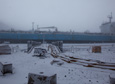 Big storm hits McMurdo Station during fuel vessel operation.
