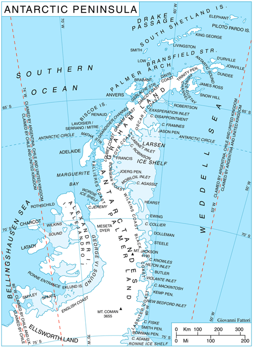 Map of Antarctica - Swoop Patagonia\'s Blog