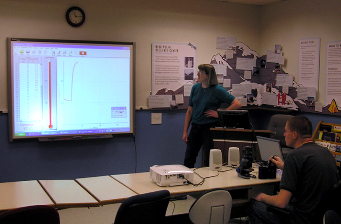 Rachel Hintz conducts presentation at the BPRC Learning Center.