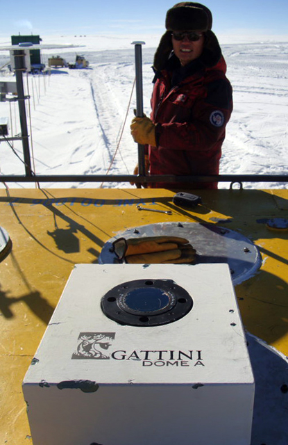Installation of Gattini camera at Dome A.