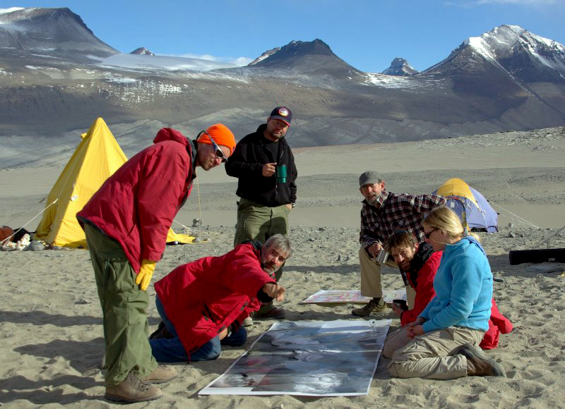 Scientists in the McMurdo Dry Valleys.